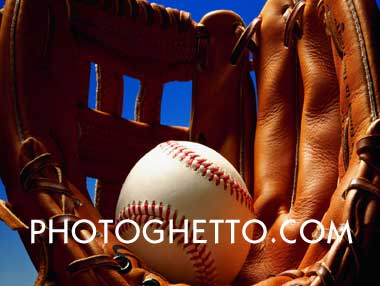 Baseball Glove & Ball Photo Image
