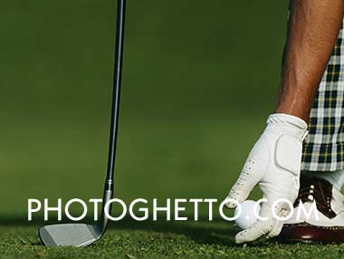 Golf Teeing Up Photo Image